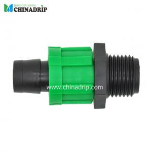 drip tape coupling for amle thread and lock nut