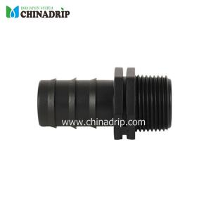 barb & male thread connector for pe pipe