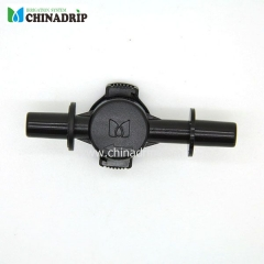 double socket anti-drainage valve for micro sprinkler