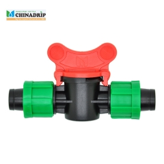 drip tape coupling valve with both ends lock nut