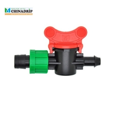 drip tape offtake valve with lock nut