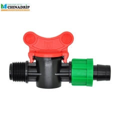 drip tape male thread valve with lock nut coupling